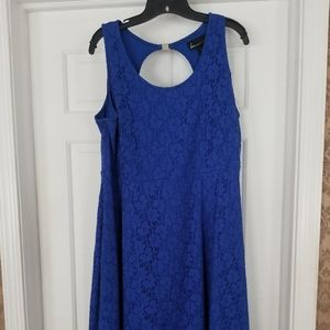 Fit n flare lace skater dress